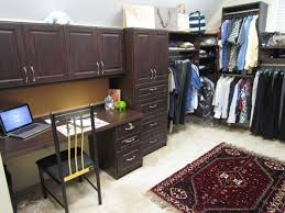 walk in closet w home office nook atlanta closet home office