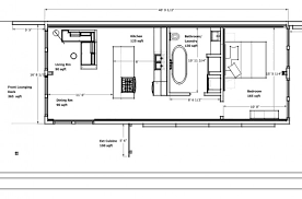 Shipping Container House Plans   Green Building Elements Bedroom  Bath