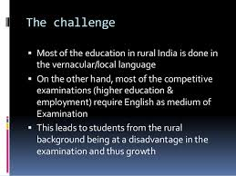 english as a second language learning at rural india