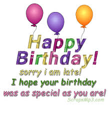 Image result for happy belated birthday