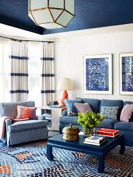 blue sofas living room: blue and white living room blue ming table blue sofa