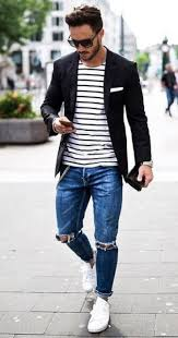 20 <b>Stylish Ripped Jeans</b> Spring Outfits For <b>Men</b> | Menswear