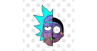 Galactic <b>Rick and</b> Morty Halves Large <b>Print Hoodie</b>