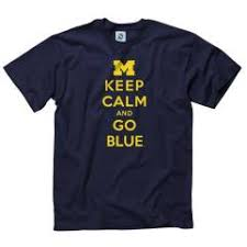 University of Michigan Navy ''<b>Keep Calm and Go</b> Blue'' Tee