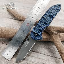 <b>FREETIGER</b> FT602 folding knife Serrated 8Cr17 Blade Micarta ...