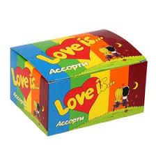 <b>Жевательная резинка Love is</b>, микс, 4.2 г (1367112) - Купить по ...