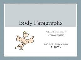 the tell tale heart essay body paragraphs the tell tale heart persuasive essays lets make  body