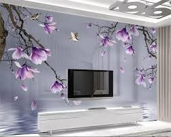 <b>beibehang Custom 3D Photo</b> Wallpaper HD hand painted magnolia ...