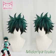 AniHut <b>Anime My Hero</b> Academia Cosplay Wig Izuku Midoriya Wig ...