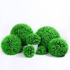 artificial grass ball eucalyptus globule artificial plant plastic lawn home office decoration