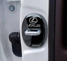 Automotive Black Stainless <b>Steel</b> Door Strikers <b>Lock Buckle</b> Cap ...