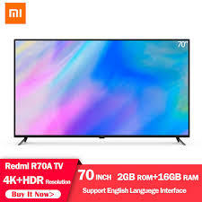 Original <b>Xiaomi Redmi</b> Smart <b>TV</b> 70 Inch 4K HDR Resolution Home ...