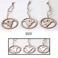 3Pcs Wooden Hollow-out DIY Craft Slices <b>Hanging</b> Pendant with ...