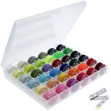 <b>36Pcs Bobbins</b> and Assorted Colors Sewing <b>Thread</b> with Storage ...