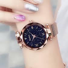 Luxury <b>Women Watches</b> Magnetic <b>Starry Sky Female</b> Clock Quartz ...