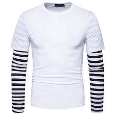 BUSIM Men's Long Sleeved Shirt <b>Autumn Winter</b> Casual <b>Round</b> ...
