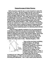 what is global warming essay
