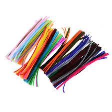 <b>100pcs Colorful Chenille DIY</b> Handmade Sticks Art Decoration ...