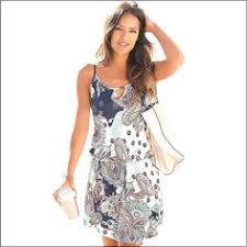New Women's Mini <b>Dress</b> Female Print Wild Loose Round Neck ...