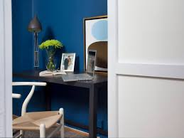 small home office design blue brown home office