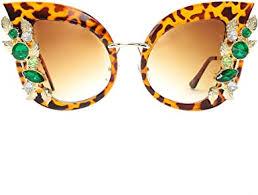 Amazon.com: Slocyclub <b>Jeweled</b> Sunglasses Large Butterfly ...