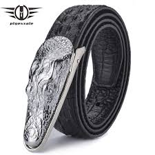 <b>Plyesxale Leather Belt</b> Men 2018 Luxury Crocodile <b>Belts</b> Men Gold ...