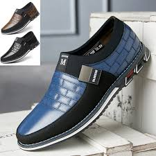New <b>Men</b> Fashion Casual Business <b>Shoes</b> Leather <b>Shoes</b> Loafers ...