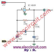 32 768 Khz Crystal Oscillator Circuit