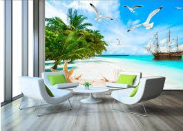 <b>3d</b> Wallpaper <b>Custom</b> Photo Mural <b>Sea View</b> Of The Beach Tv Sofa ...