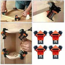 4pcs woodworking <b>90 degree right angle</b> clamp clip quick picture ...