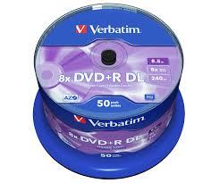<b>DVD</b>+<b>R Double</b> Layer Matt Silver - Verbatim