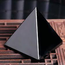 Black <b>Natural Obsidian</b> Quartz <b>Crystals Pyramid</b> Healing Crystal for ...