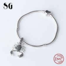 <b>SG</b> fashion christmas Scorpion beads charms pandora <b>silver 925</b> ...