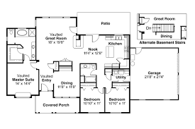 Ranch House Plans   Alpine     Associated DesignsRanch House Plan   Alpine     Floor Plan