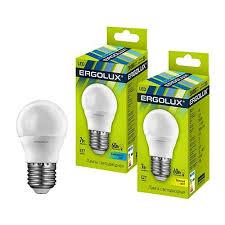 <b>Лампа светодиодная Ergolux LED-G45-7W-E27-4K</b> шар 7Вт Е27 ...