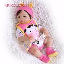 NPK <b>19inch</b> 46cm Cute Cat Reborn Doll little <b>Full Silicone</b> Bebes ...