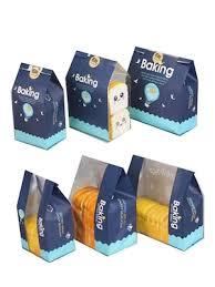 Buy <b>50Pcs</b> Bakery Kraft Bags With Window Oil Proof Bread Toast ...