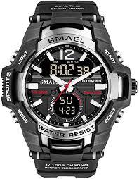 Men's Sports Watch, Fashion Military Dual-Display ... - Amazon.com