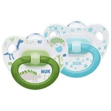 <b>Happy</b> Days Size 1 0-6m <b>Silicone Soother</b> 2 pack - NUK UK