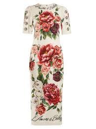 <b>Dolce</b> & <b>Gabbana</b> L'amore e Bellezza пион принт cady midi платье ...