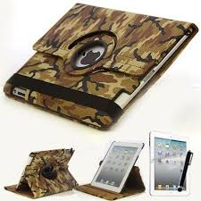 Amazon.com: Mecasy_Military <b>Army Camouflage Leather</b> Case 360 ...