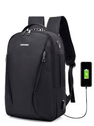 Buy <b>Men's Backpack</b> Zipper Large Capacity USB Charging Interface ...