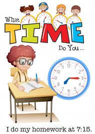 A boy doing <b>homework</b> at 7:15 | <b>Premium</b> Vector