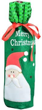Christmas X-mas Santa and Snowman Sequins Wine ... - Amazon.com