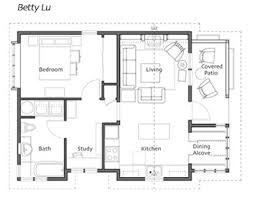 images about houses  Ross Chapin Arch  on Pinterest   Small    This place looks wheelchair accessible     floor plan for the Betty Lu Cottage from Small Homes by Ross Chapin Architects to accompany picture at earlier