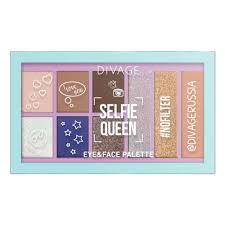 <b>Палетка теней для</b> век <b>DIVAGE</b> Selfie Queen ...