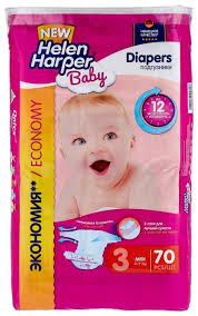 Купить <b>Helen Harper подгузники Baby</b> 3 (4-9 кг) 70 шт. в интернет ...
