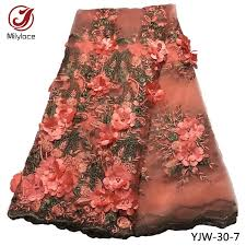 3D <b>Appliqued Lace</b> African <b>Lace</b> Fabric <b>Good Quality</b> French <b>Lace</b> ...