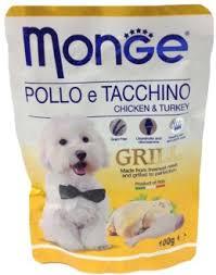 <b>Monge dog grill</b> pouch <b>паучи</b> для собак курица с индейкой