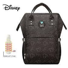 <b>Disney</b> Waterproof <b>Diaper</b> Bags <b>USB</b> Bottle Feeding Backpack Baby ...